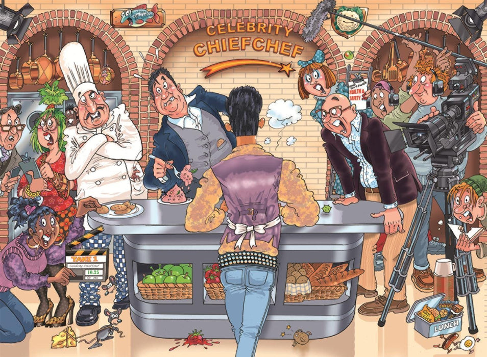 Jigsaw Puzzle - Wasgij 26 Original: Celebrity Chief Chef! 1000 Piece Jigsaw Puzzle