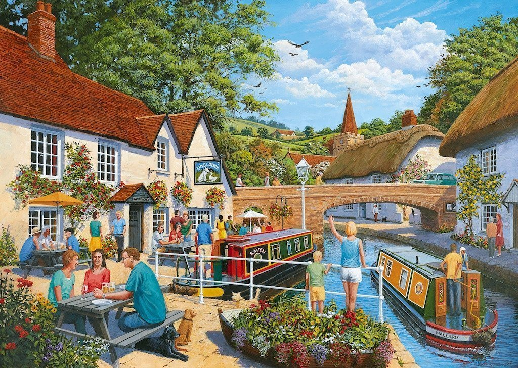 Jigsaw Puzzle - Waterside Tavern, 1000 Piece Jigsaw Puzzle