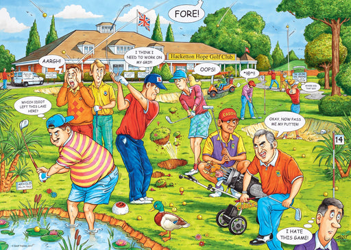 Jigsaw Puzzle - WHAT IF? No.18 Fantasy Golf 1000 Piece Jigsaw Puzzle