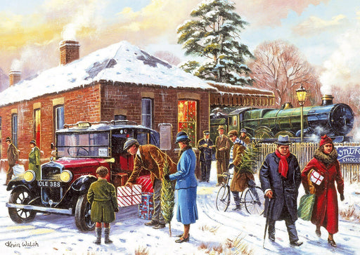 Winter about Town 4x500 Piece Jigsaw Puzzle - All Jigsaw Puzzles UK  - 1