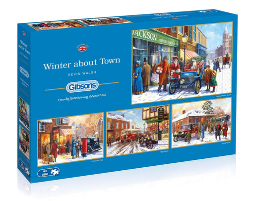 Winter about Town 4x500 Piece Jigsaw Puzzle - All Jigsaw Puzzles UK  - 2