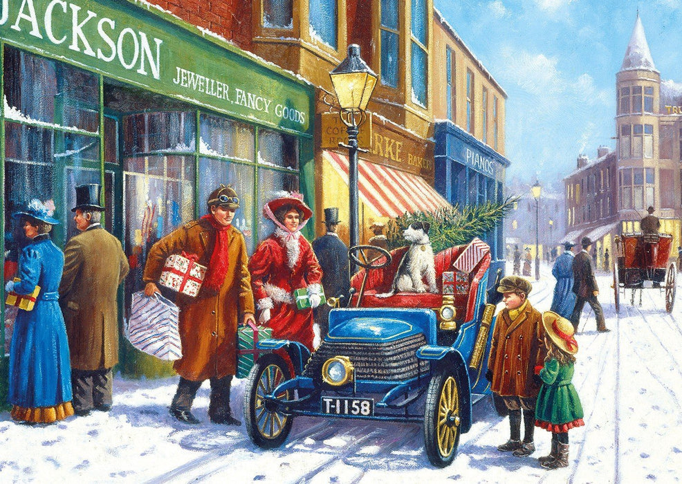 Winter about Town 4x500 Piece Jigsaw Puzzle - All Jigsaw Puzzles UK  - 3