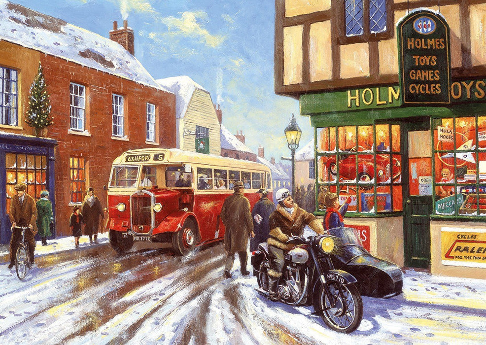 Winter about Town 4x500 Piece Jigsaw Puzzle - All Jigsaw Puzzles UK  - 5