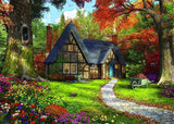 Jigsaw Puzzle - Woodland Cottages 2 X 500 Piece Jigsaw Puzzle