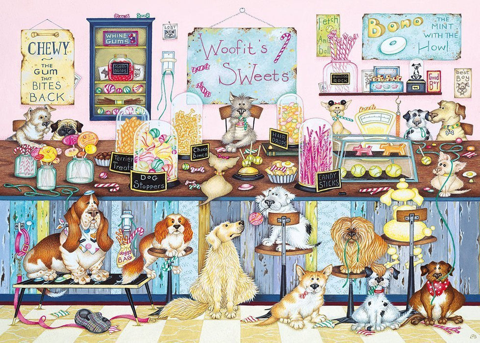 Jigsaw Puzzle - Woofit's Sweet Shop 1000 Piece Jigsaw Puzzle