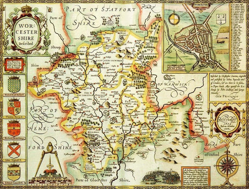 Worcestershire Historical Map 1000 Piece Jigsaw Puzzle (1610) - All Jigsaw Puzzles UK  - 1