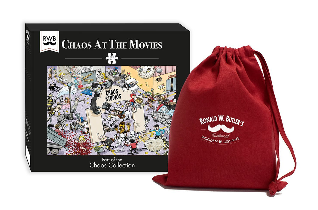 Chaos at the Movies - No.9 300 Piece Wooden Jigsaw Puzzle