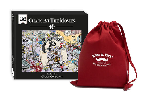 Chaos at the Movies 300 Piece Wooden Jigsaw Puzzle