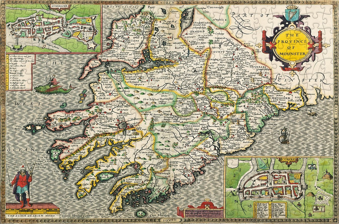 Munster 1610 Historical Map 300 Piece Wooden Jigsaw Puzzle