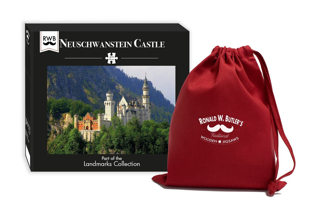 Neuschwanstein Castle 300 Piece Wooden Jigsaw Puzzle
