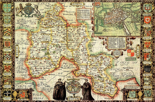 Oxfordshire 1610 Historical Map 300 Piece Wooden Jigsaw Puzzle
