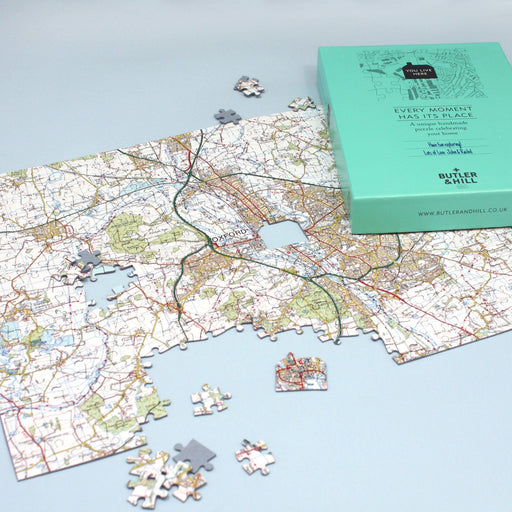 Personalised Jigsaw - Customised Map Jigsaw Puzzle