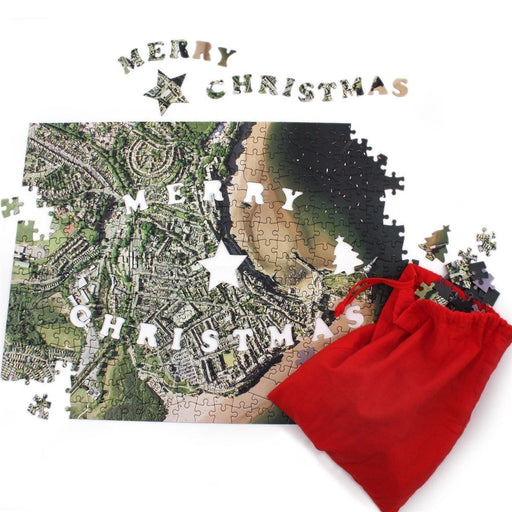 Merry Christmas Personalised 400 Piece Map Jigsaw - All Jigsaw Puzzles UK  - 2