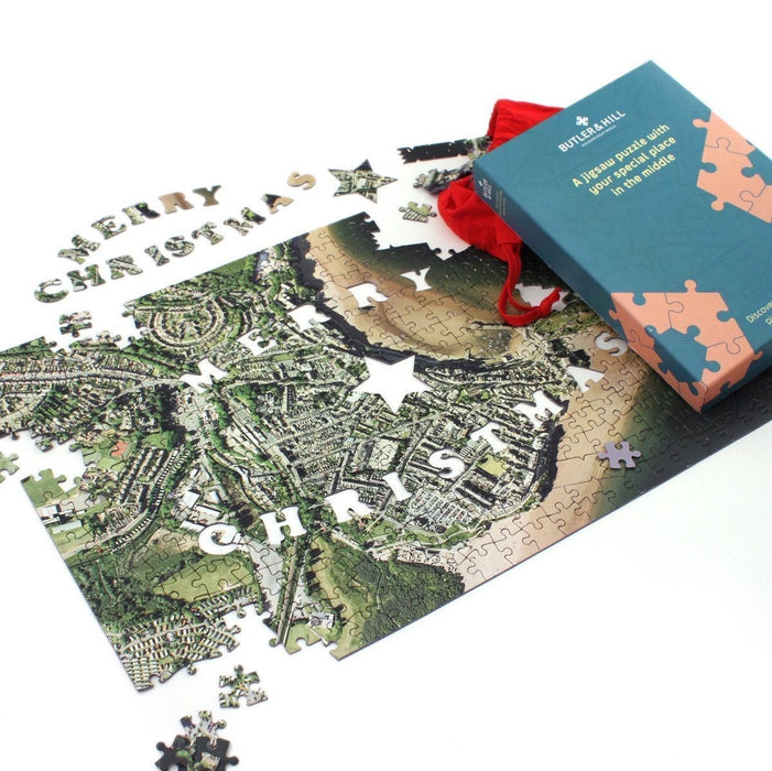 Merry Christmas Personalised 400 Piece Map Jigsaw - All Jigsaw Puzzles UK  - 3