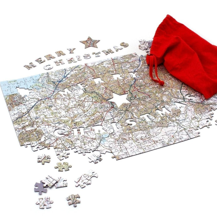 Merry Christmas Personalised 400 Piece Map Jigsaw - All Jigsaw Puzzles UK  - 4