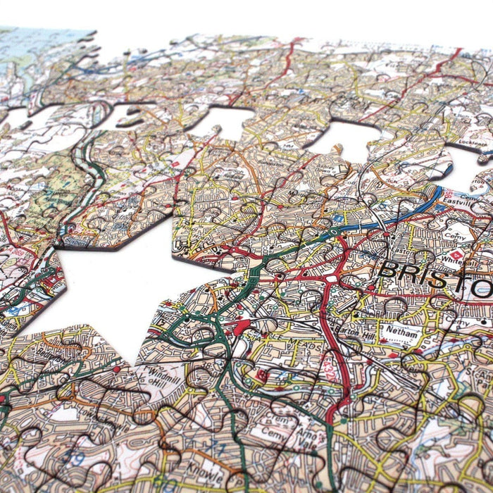 Merry Christmas Personalised 400 Piece Map Jigsaw - All Jigsaw Puzzles UK  - 5