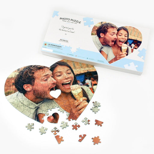 Personalised Jigsaw - Personalised Heart Shaped Photo Puzzle