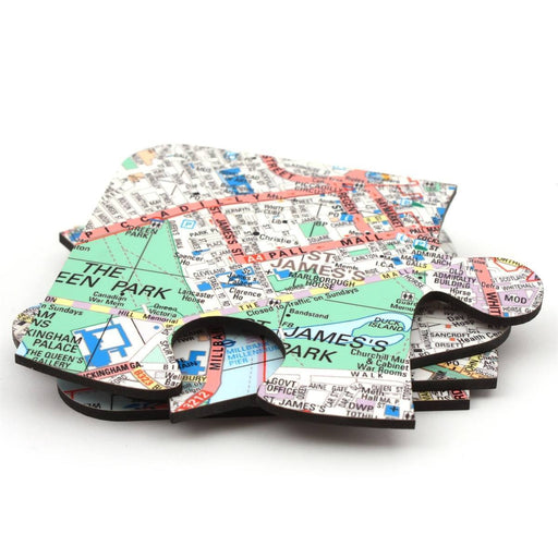 Personalised Map Jigsaw Coasters - All Jigsaw Puzzles UK  - 2