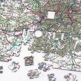 Personalised Jigsaw - Personalised Wooden Map Jigsaw