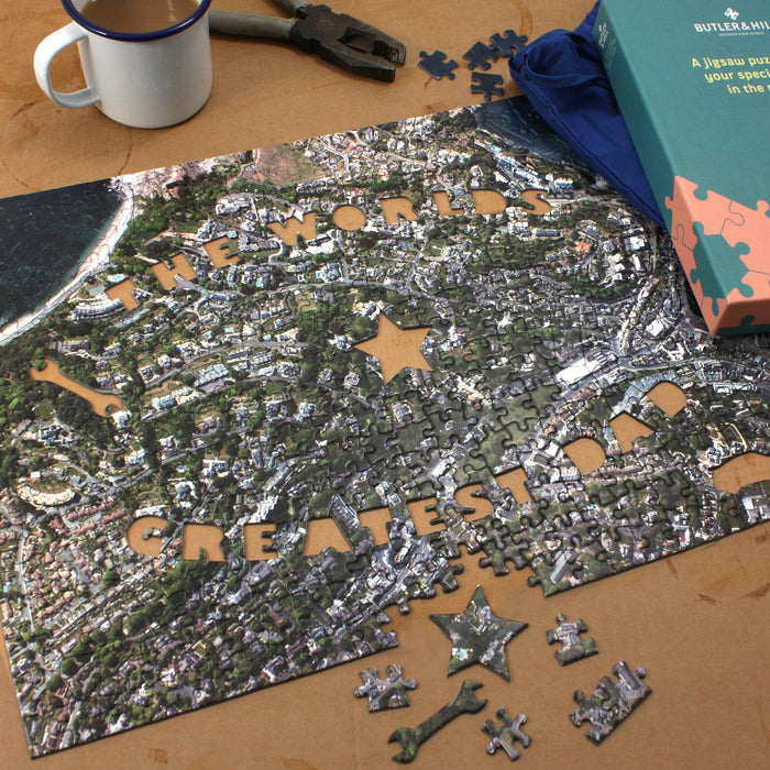 World's Greatest Dad Personalised Map Jigsaw - All Jigsaw Puzzles UK  - 2