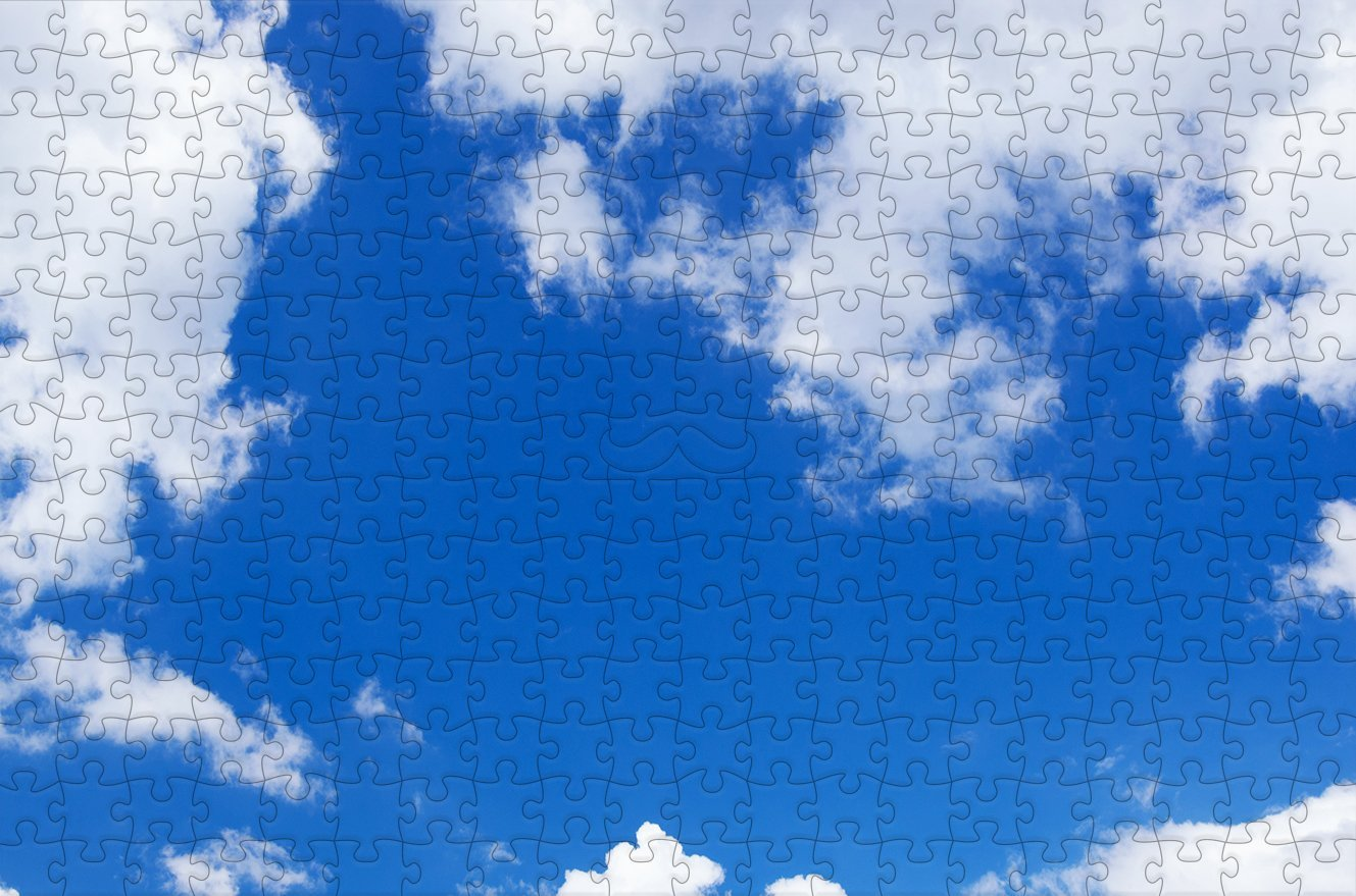 Natural Sky - Impuzzible - 300 Piece Wooden Jigsaw Puzzle