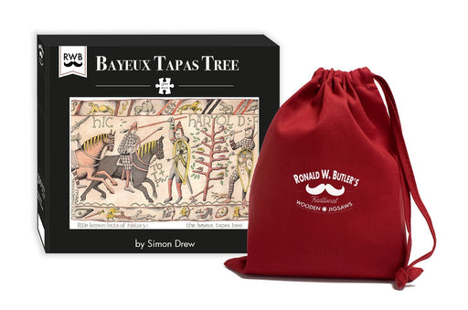Bayeux Tapas Tree - Simon Drew Designs - 300 Piece Wooden Jigsaw Puzzle