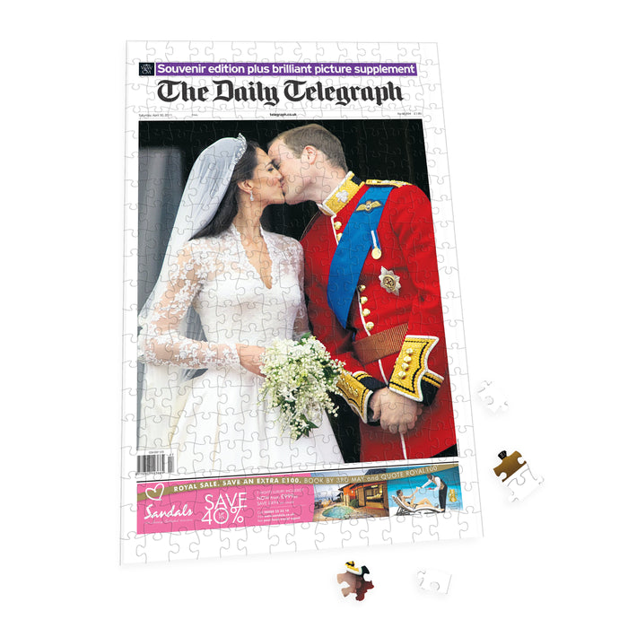 "Personalised ""The Telegraph"" Front Page 400 Piece Jigsaw Puzzle"