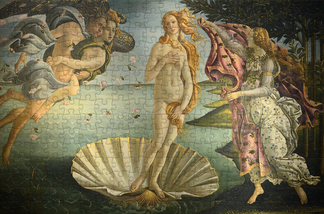Birth of Venus by Botticelli 300 Piece Wooden Jigsaw Puzzle