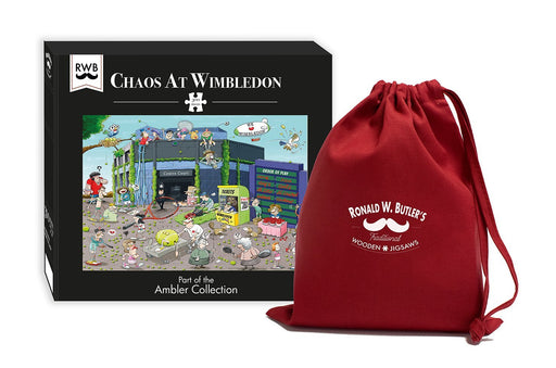 Chaos at Wimbledon 300 Piece Wooden Jigsaw Puzzle