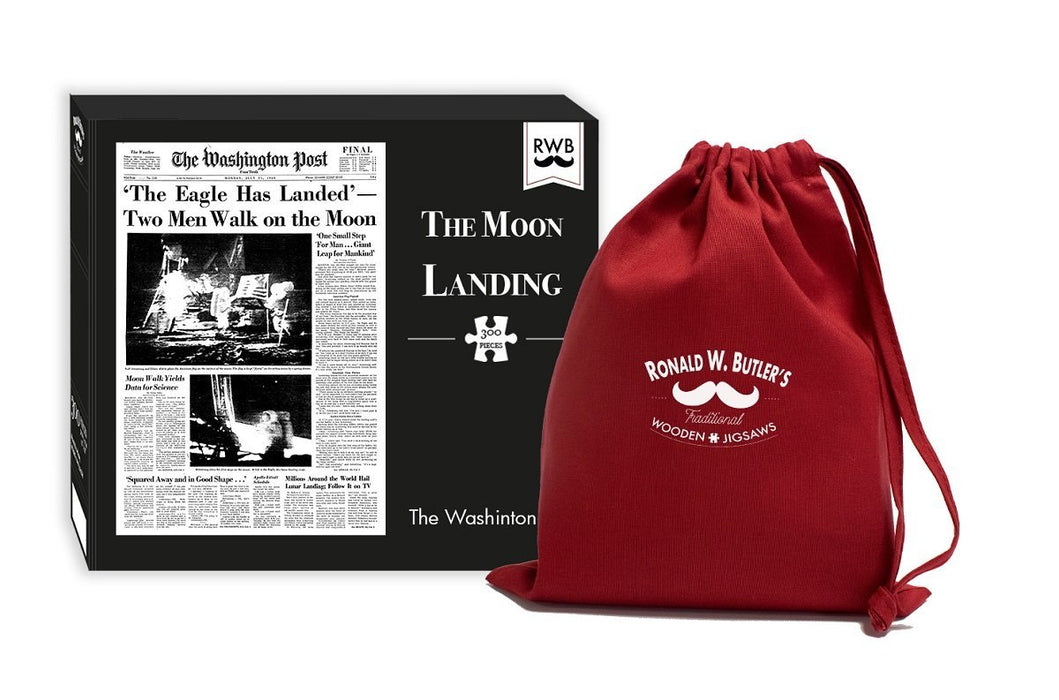 The Washington Post Newspaper - The Moon Landing 300 Piece Wooden Jigsaw Puzzle