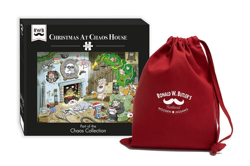 Christmas at Chaos House- No.2 300 Piece Wooden Jigsaw Puzzle