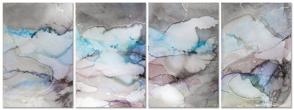 Beautiful Marble - (4 Canvases)