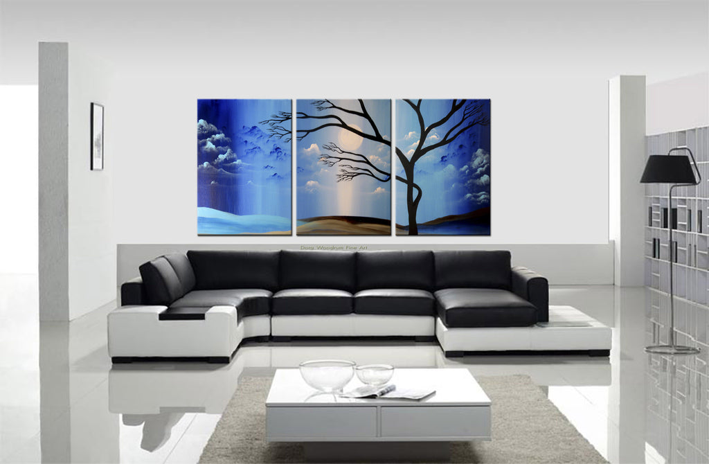"Abstract Painting: ""Blue Sky Tree"""