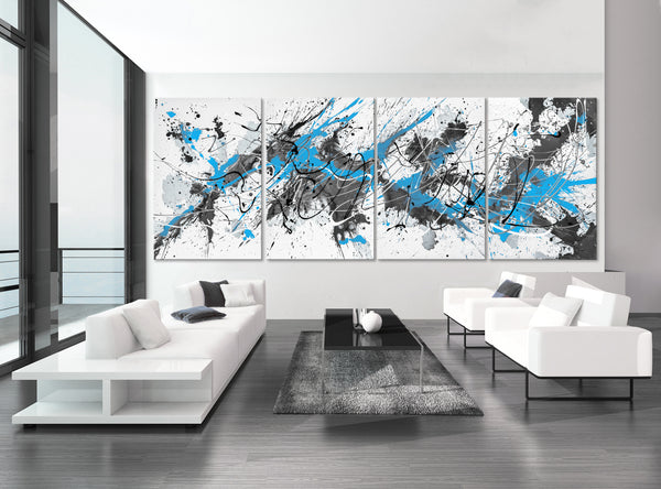 Bright Blue & Gray - Modern Splash