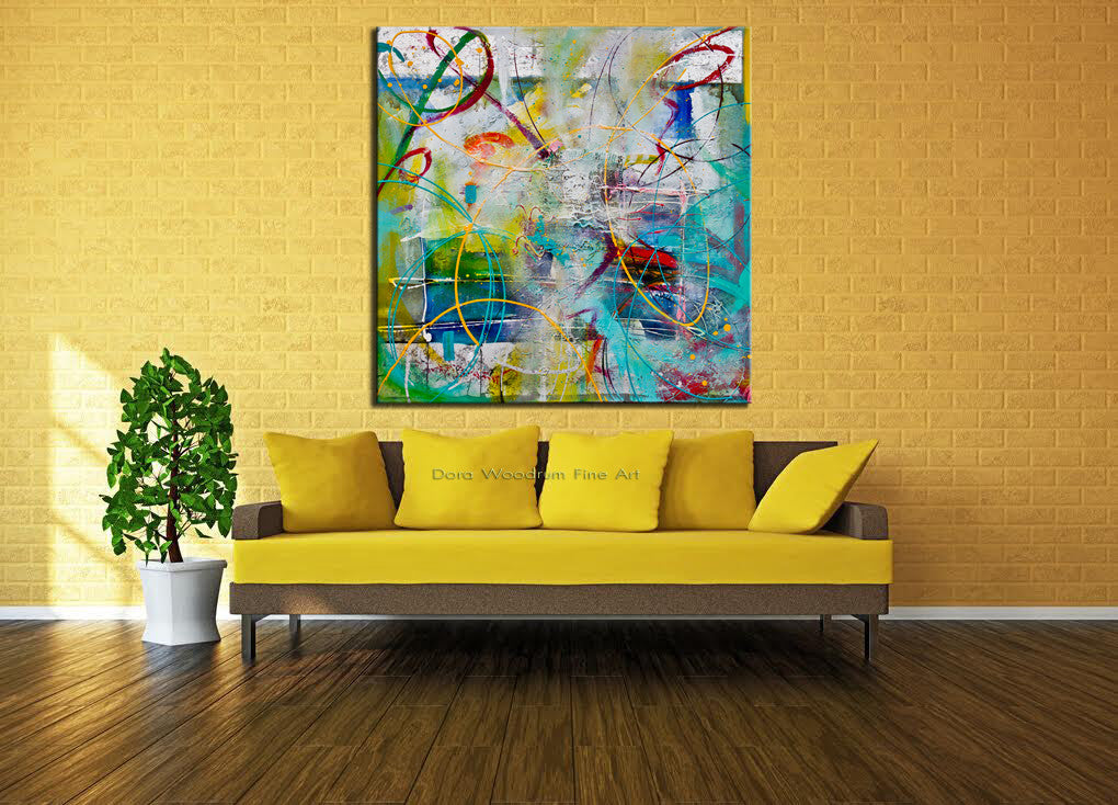 "Abstract Painting: ""A Bright Sunny Day"""