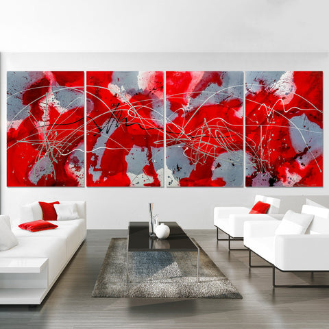 Modern Splash - Red & Gray