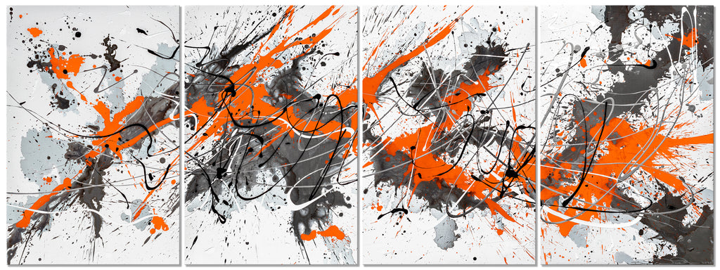 Orange & Gray - Modern Splash