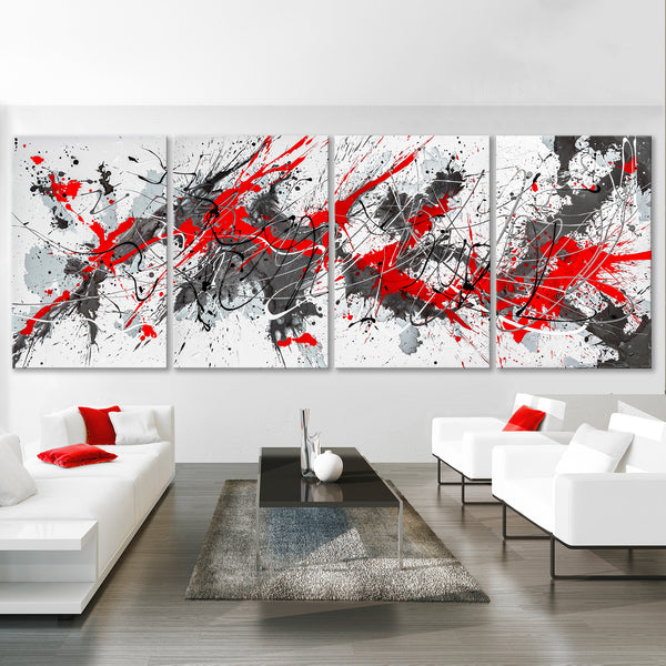 Red, Gray & Silver Modern Splash