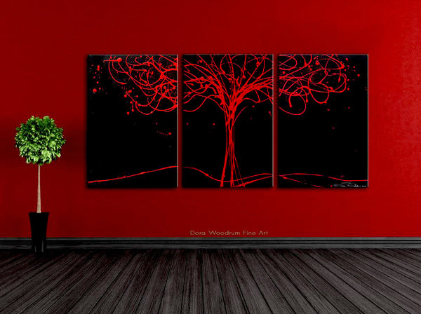 Tree of Life - Black & Red