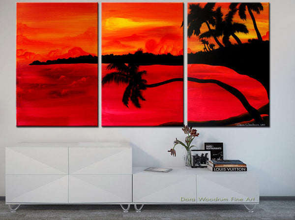 "Abstract Painting: ""Tropical Sunset"""