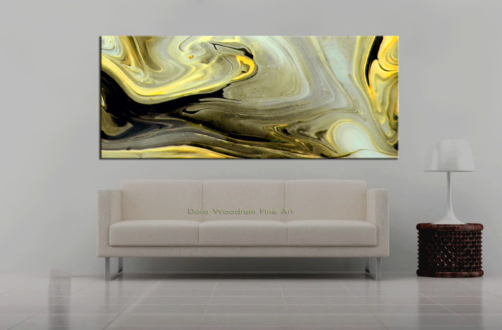"Abstract Painting: ""Yellow Swirl"""
