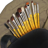 Studio Eyes 12pc. Brush Set with Roll-up Pouch