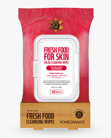 Freshfood Micellar Cleansing Wipes 60pcs - Pomegranate
