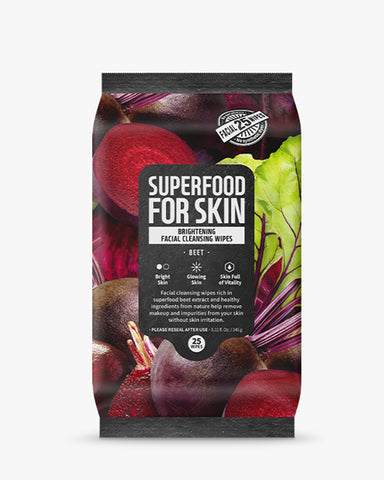 Superfood Micellar Cleansing Wipes 25pcs - Beet