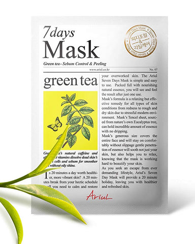 7 Days Green Tea Sebum Control & Peeling Mask 1ш