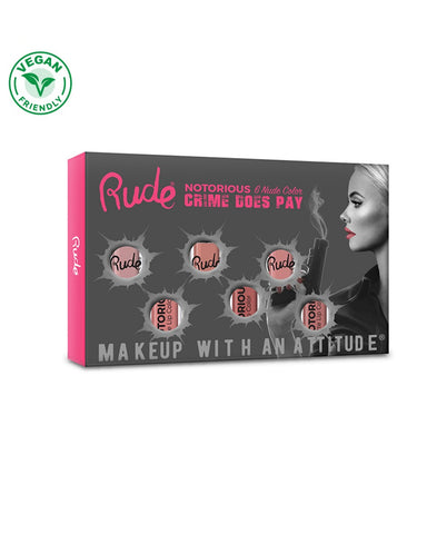 Crime Does Pay Notorious 6 Lip Color Set - Nude