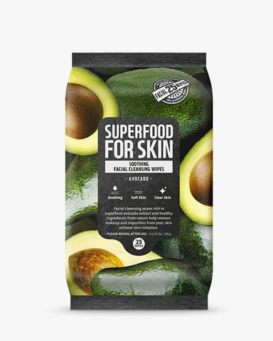 Superfood Micellar Cleansing Wipes 25pcs - Avocado