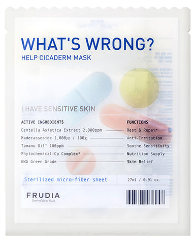 Whats Wrong Help Cicaderm Mask 27мл - 1ш