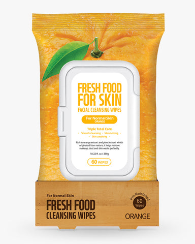 Freshfood Micellar Cleansing Wipes 60pcs - Orange