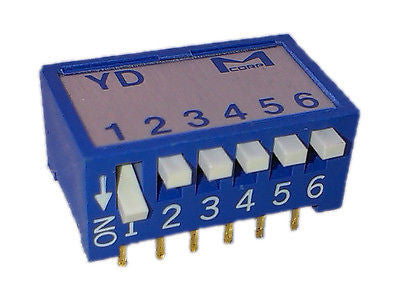 Martin 05500001 DIP switch, Piano Type, 6-bit D, YD-06Z